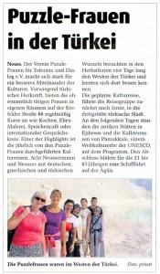 Ägäis-Reise der Puzzle Frauen 2014 - Stadt-Kurier 26.10.2014