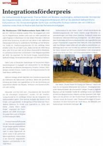 MITTENDRIN-Artikel Anerkennungsurkunde für die Puzzle-Frauen 10.03.2013