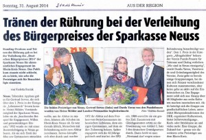 Bürgerpreis für die Puzzle-Frauen - Stadt-Kurier 31.08.2014