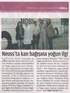 Blutspende-Aktion - ZAMAN 21.04.2012
