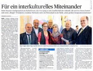 Durdu Yavuz bei Podiumsdiskussion Miteinander in Neuss - wie organisiert sich die interkulturelle Stadtgesellschaft NGZ 07.05.2015