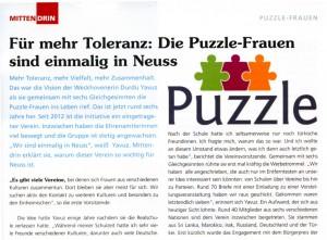Einmalige Puzzle-Frauen - Magazin-Mittendrin 02.11.2014 - Seite 1
