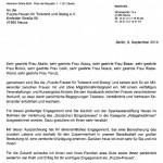 Gratulation zum Bürgerpreis an Puzzle e.V. von MdB Hermann Gröhe 09.09.2014