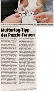 Muttertag im Kulturkeller - Stadt-Kurier 04.05.2014