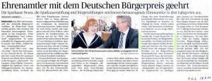 Verleihung des Bürgerpreises der Sparkasse an die Puzzle - NGZ 28.08.2014
