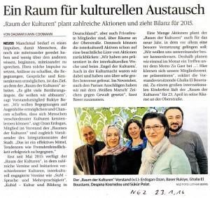 Mitglied im Verein RdK - NGZ 23.01.16